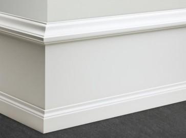 altbauleiste wei klassische sockelleiste profil h he bis 275mm holz mdf t renfuxx. Black Bedroom Furniture Sets. Home Design Ideas