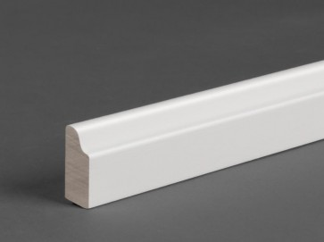 Sockelleiste Weiß 25 mm x 9 mm Massivholz (Berliner Profil)