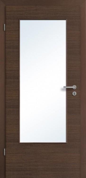 Tür Eiche Braun mit Lichtausschnitt