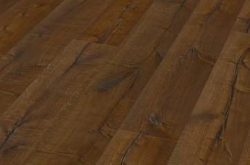 Eiche Breitdiele XXL tief gebürstet altholztypische Längsrisse | dunkel geräuchert, geölt