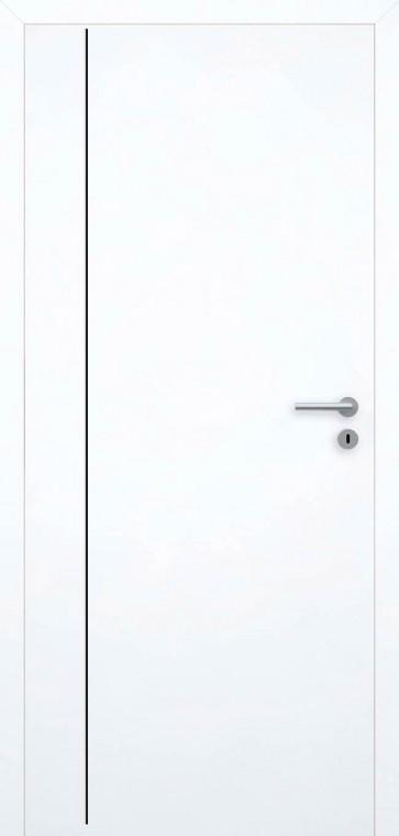 Tür bündig Superweiß L4 Schwarz