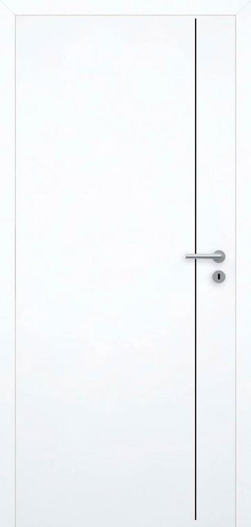 Tür bündig Superweiß L5 Schwarz