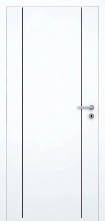 Tür bündig Superweiß L6 Schwarz