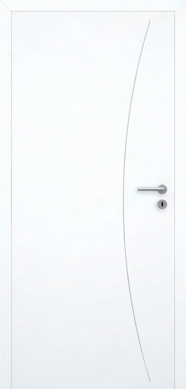 Tür bündig Superweiß L9 Schwarz