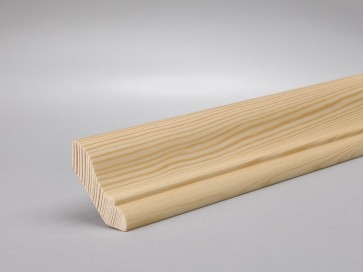 Hohlkehlleisten Kiefer 30mm x 30mm (Massivholz)