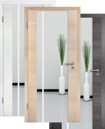 Holzglastür CPL Fineline Sandstrahlmotiv 25