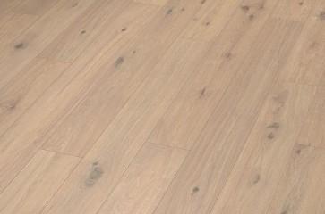 Korkparkett Eiche astig gebürstet geräuchert weiß (11,5 x 185 x 1830 mm)