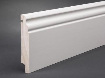 Sockelleiste Weiß 19 mm Kiefer Massivholz RAL 9016 (Berliner Profil)