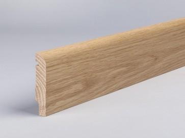 Sockelleiste Eiche Masivholz 80 mm x 16 mm abgerundete Oberkante
