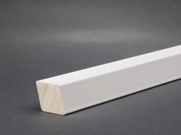 wei e sockelleisten 25 mm x 20 mm oberkante abgeschr gt massivholz grundiert wei lackiert von. Black Bedroom Furniture Sets. Home Design Ideas