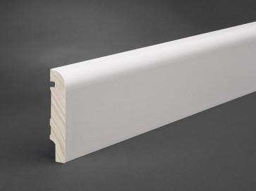 Sockelleiste Weiß MDF 80 mm x 16 mm abgerundete Oberkante