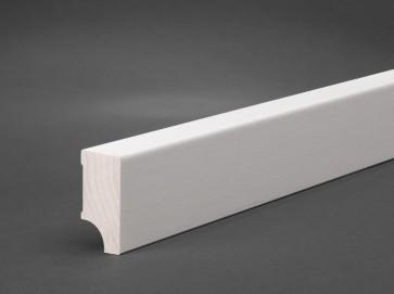 Sockelleisten weiß Holz / 40mm x 20mm Oberkante gerade