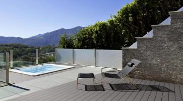 WPC Terrassen Komplett-Set (7m x 4m = 28m²) Dielen massiv