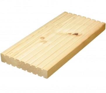 Terrassendiele Lärche beidseitig genutet (14,3 cm x 4,0 cm)