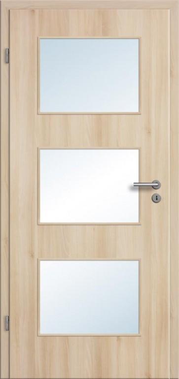 zimmert r cpl akazie l ngs mit glas lichtausschnitt t rblatt rundkante. Black Bedroom Furniture Sets. Home Design Ideas