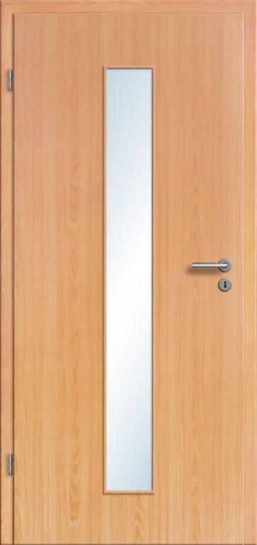zimmert r cpl buche holzoptik mit glasausschnitt und designkante hohe passgenauigkeit beste. Black Bedroom Furniture Sets. Home Design Ideas