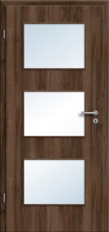 cpl t r glasausschnitt haselnuss g nstige preise f r zimmert ren t renfuxx. Black Bedroom Furniture Sets. Home Design Ideas