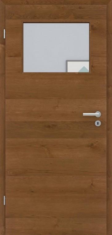 Echtholztür Asteiche quer furniert | Bronze LA005