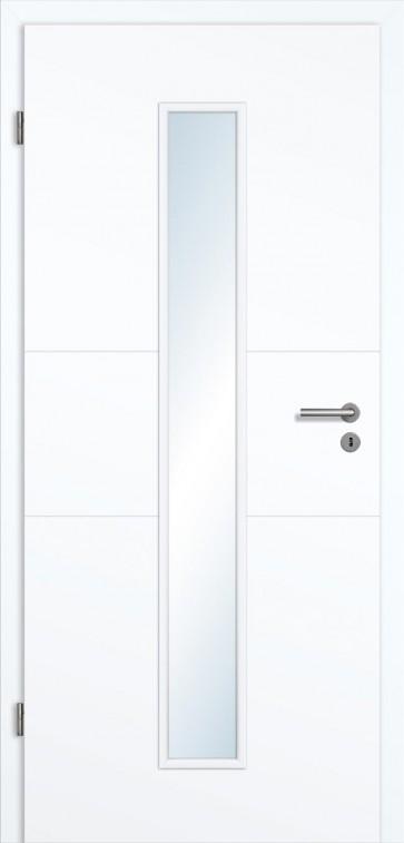 zimmert r wei lack mit lichtausschnitt und zarge kaufen t renfuxx. Black Bedroom Furniture Sets. Home Design Ideas