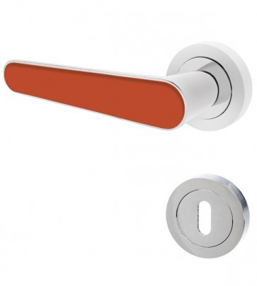 Türgriffe Chrom Orange BB Set Deluxx 001-S