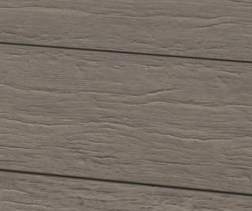 WPC Dielen Massiv Steingrau / Profil gealtert