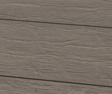 Muster WPC Dielen Massiv Steingrau 22 mm x 143mm / Profil gealtert