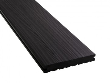 WPC Dielen extra lang   20 mm x 140 mm, Massiv, Anthrazit (Oberfläche strukturiert)