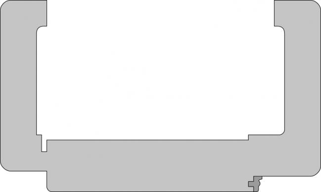 zimmert r mit rahmen eiche innent r komplett lisenen t ren cpl mit zarge rundkante queroptik. Black Bedroom Furniture Sets. Home Design Ideas