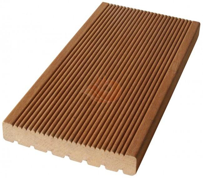Terrassendielen Bangkirai-Holz Muster - gerillte Oberfläche ...
