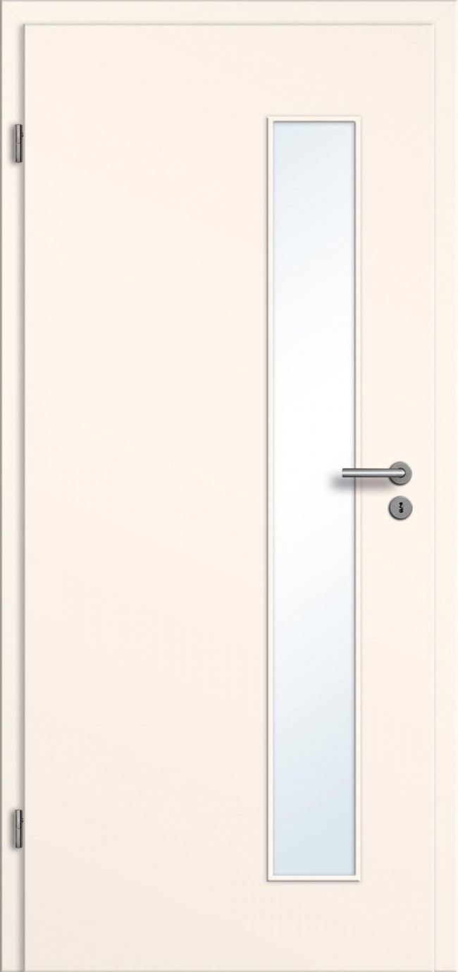cremewei e cpl t r mit glasausschnitt preiswertes t relement uni cremewei mit zarge beim. Black Bedroom Furniture Sets. Home Design Ideas