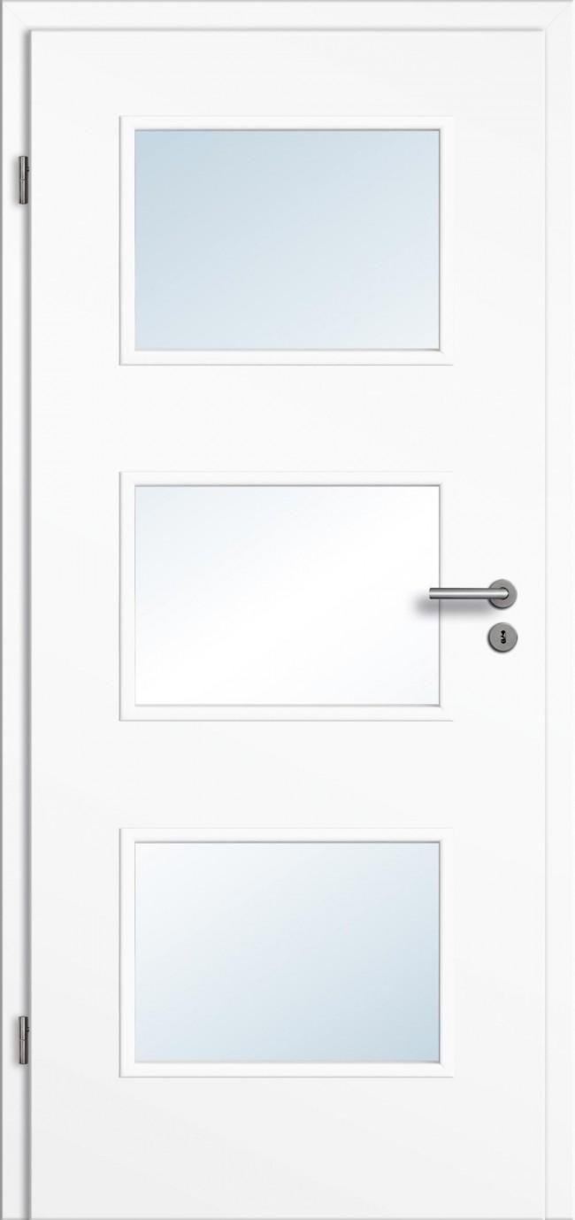 cpl t ren wei mit zarge und glasausschnitt t renfuxx. Black Bedroom Furniture Sets. Home Design Ideas