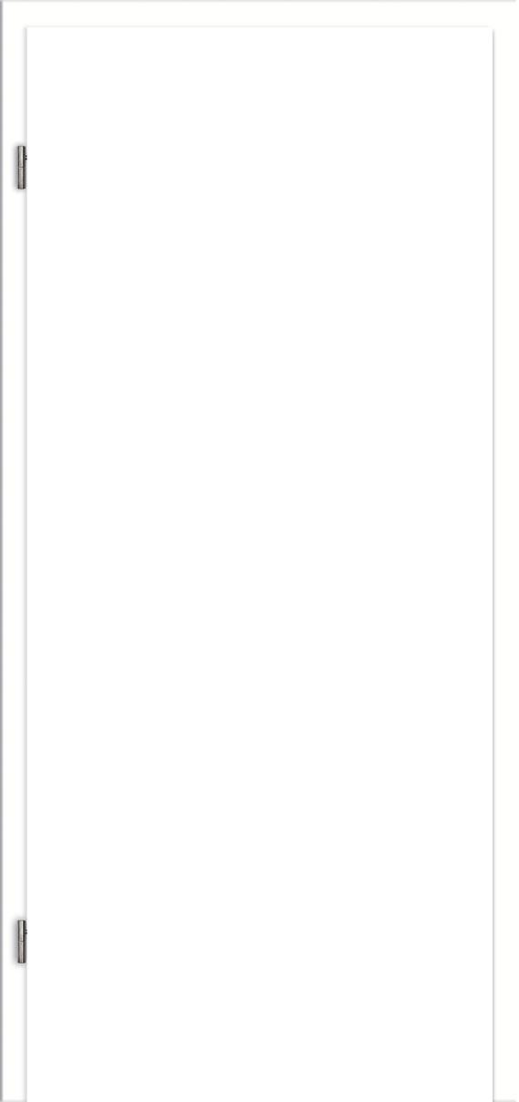Türzarge Weißlack CPL RAL 9010 Zarge mit Rundkante 60mm Zierbekleidung 198,5cm