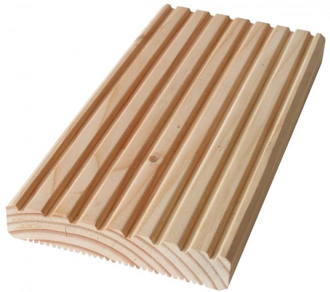 Muster Versand Terrassendiele Aus Douglasie Holz Genutet Online Beim
