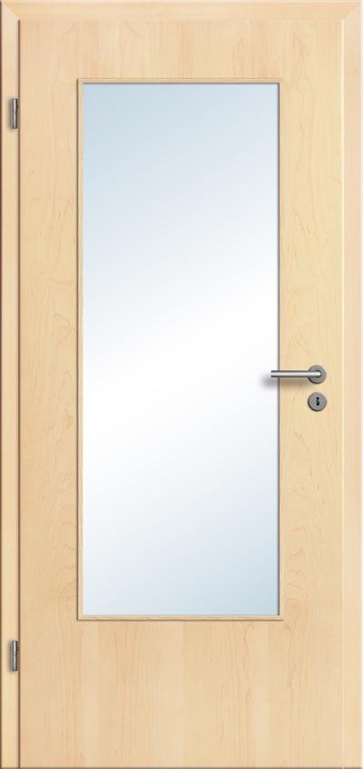 echtholz ahorn zimmert r glaseinsatz komplettelement t r zarge t renfuxx. Black Bedroom Furniture Sets. Home Design Ideas