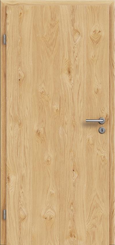 Zimmertür eiche  Echtholztüren Eiche astig natur lackiert längs furniert + Zarge ...