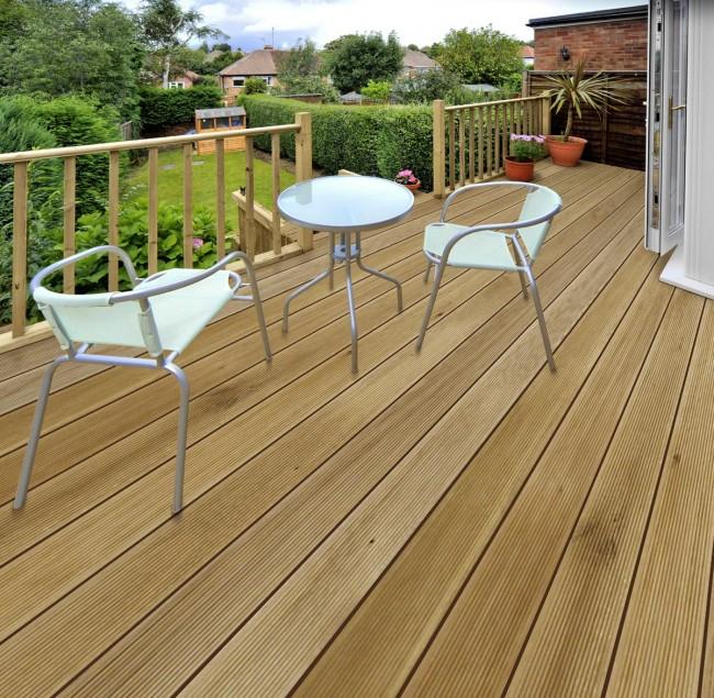 Terrassendiele Aus Eichenholz Glatt Online Kaufen Beim Turenfuxx