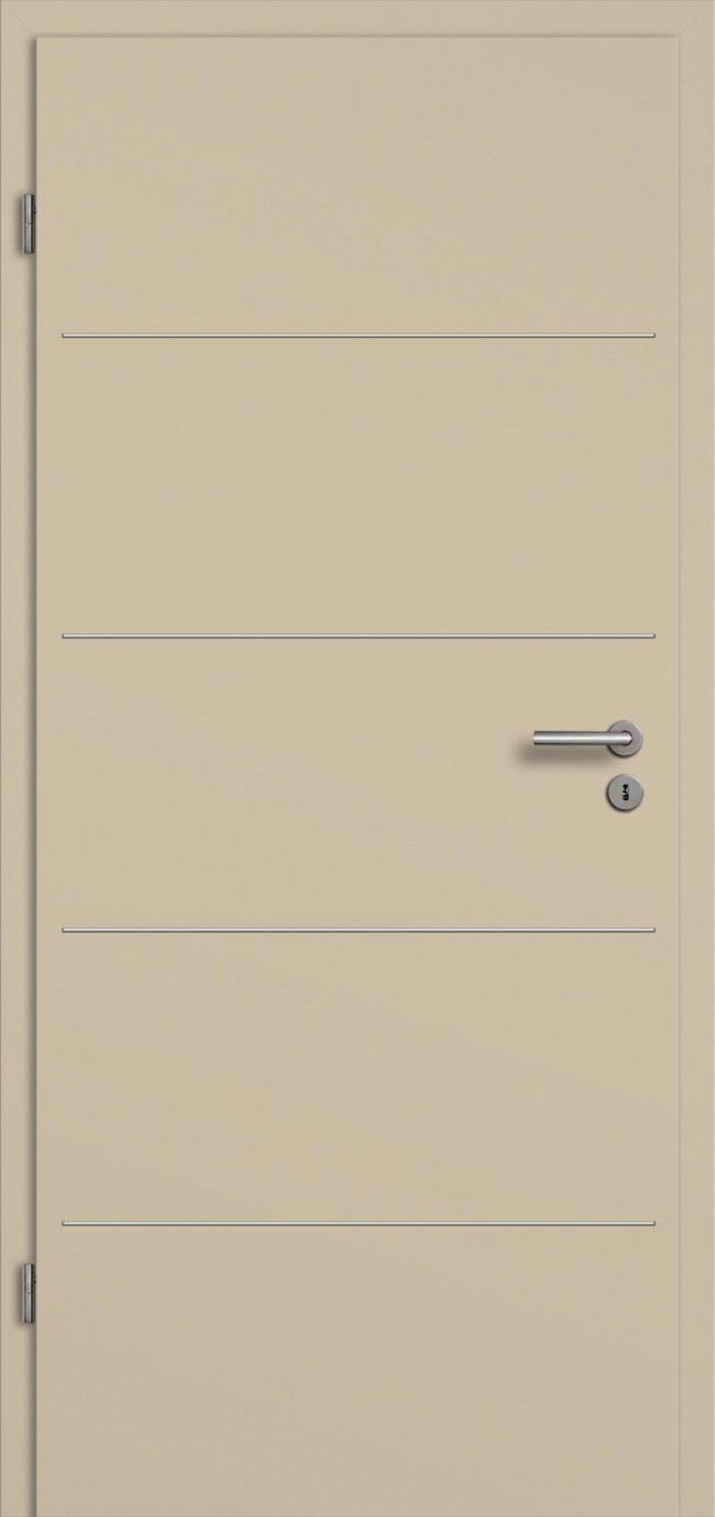 g nstige cpl t ren mit lisenen t relement farbe softbeige t renfuxx. Black Bedroom Furniture Sets. Home Design Ideas
