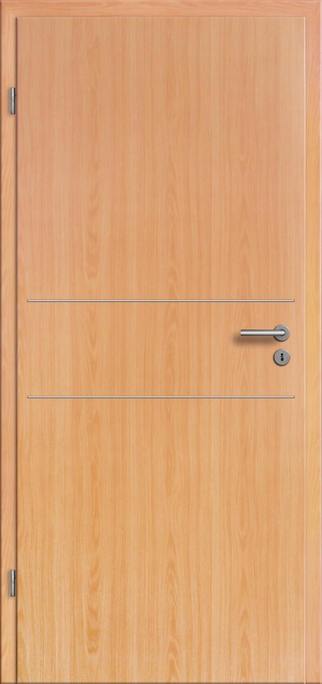t ren buche cpl mit zarge komplettset lisenen rundkante g nstig t renfuxx. Black Bedroom Furniture Sets. Home Design Ideas