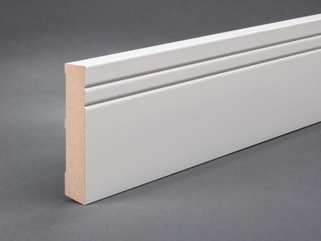 Fußleisten Weiß weiße sockelleiste mdf 100mm x 19mm oberkante gerade profil kaufen