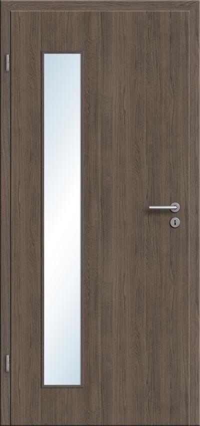 graue cpl zimmer und innent r mit glasausschnitt in holzoptik beim t renfuxx bestellen und. Black Bedroom Furniture Sets. Home Design Ideas