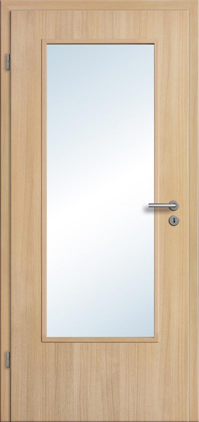 Hervorragend Zimmertür Eiche hell Lichtausschnitt und Zarge - Türenfuxx NE68