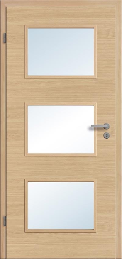 Innentüren mit lichtausschnitt  Innentüren mit Lichtausschnitt CPL Eiche roheffekt kaufen - Türenfuxx