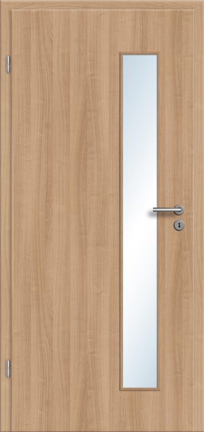 Gut gemocht CPL Tür Innentür Noce / Nussbaum mit Glasausschnitt: eine große YN41