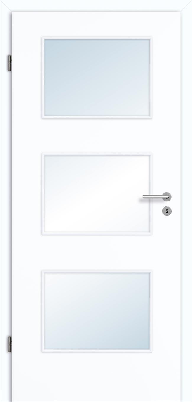 Beliebt Weiße Zimmertür Innentür mit Lichtausschnitt günstig kaufen EN02