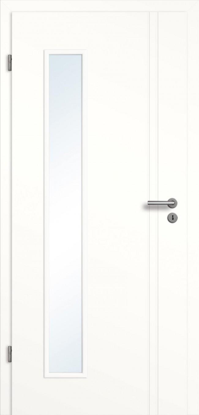 Weisslack Zimmertur Innentur Glaseinsatz Mit 2 Langsrillen Turenfuxx