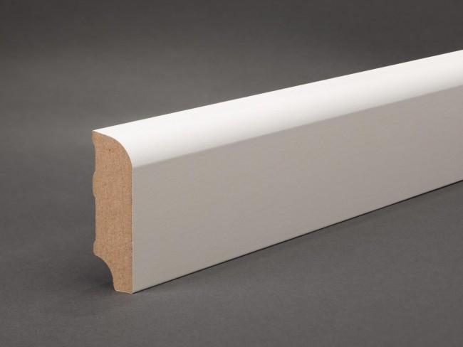 Fußleisten Weiß günstige sockelleiste weiß 60 x 20 mm oberkante abgerundet mdf