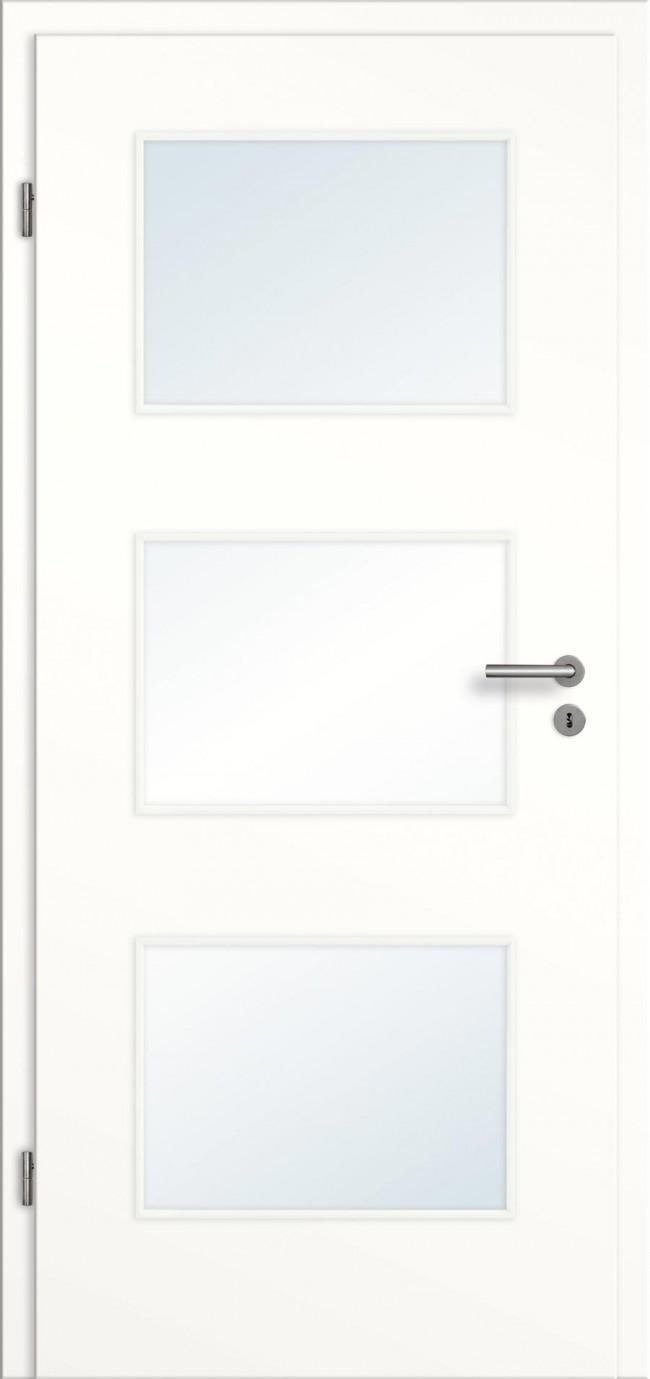 wei lack t ren mit glas lichtausschnitten g nstig online kaufen t renfuxx. Black Bedroom Furniture Sets. Home Design Ideas