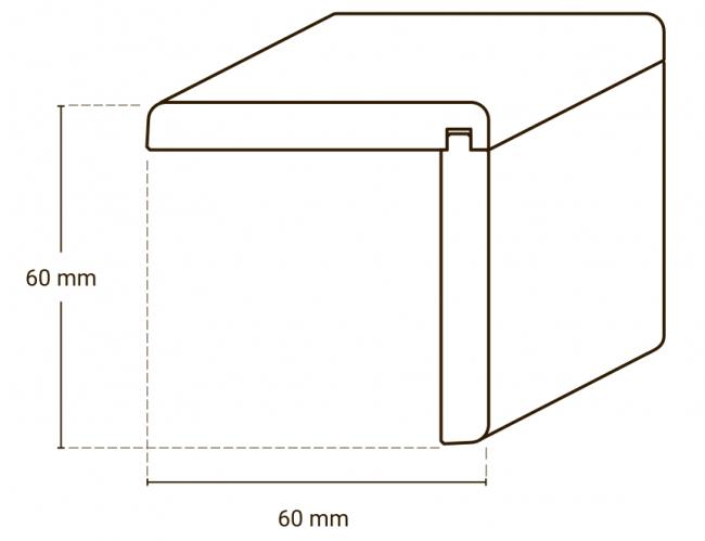 Winkelleisten Holz Buche Eiche 60mm Gunstig Kaufen Turenfuxx