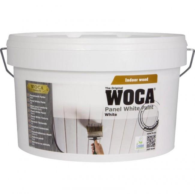 WOCA Paneelweiß Farbe (2,5 Liter) ist eine vollmatte spezielle Farbe ...