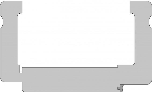 Wohnungseingangstür Profilzarge CPL Weiß, 90mm